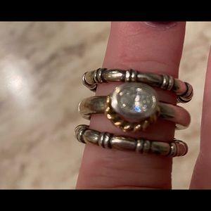 3 pandora rings